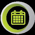 RC Circle Calendar Green